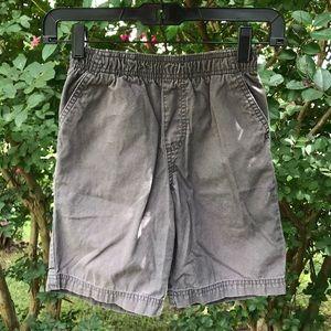 Faded Glory Gray Elastic Waist Khaki Shorts 6